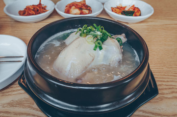 close up of Samgyetang