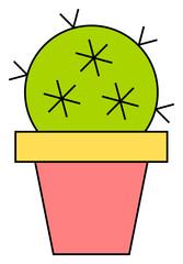 Kaktus im Blumentopf