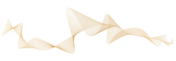 abstract golden wave lines on white background
