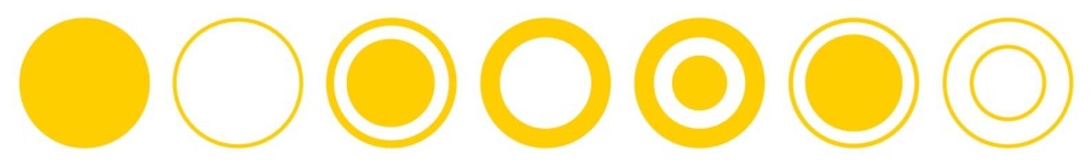 Label Circle yellow | Circles | Logo Sticker | Emblem Round | Icon | Variations Fotomurales