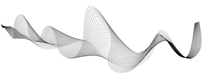 Foto auf Gartenposter Abstrakte Welle abstract wave lines on white background