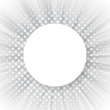 Abstract sun rays vector background. Halftone dotted effect with copy space. Vector template for banners, posters, etc.