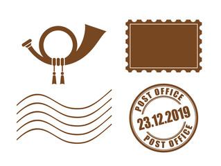 Post stamp vector illustration