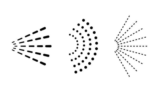 Spray cloud vector icon set