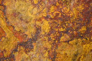 Backgraund of natural stone rust color texture a copy space.