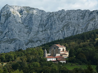 Church Urkiola Sanctuary in Urkiola National Park in Spain,Europe