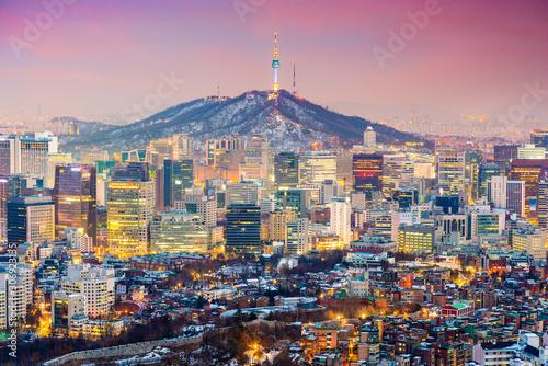 Fototapete Seoul, South Korea Cityscape