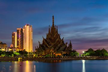 The Sanctuary of Truth in Pattaya Chonburi , Thailand
