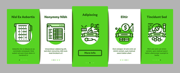 Academy Educational Onboarding Mobile App Page Screen. Academy Building And Uniform, Book And Paper With Pen, Financial And Music Lessons Illustrations
