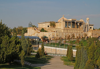 View of Hazrat Khizr Mosque in Samarkand