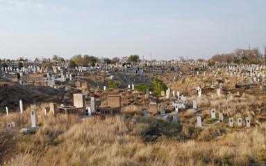 Cemetery in the ancient site Afrasiyab, Samarkand