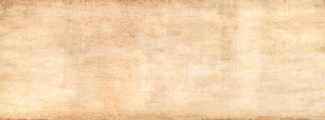 Antique vintage grunge texture pattern. Abstract brown old background with gradient fine art design and vignette.Long panoramic format.