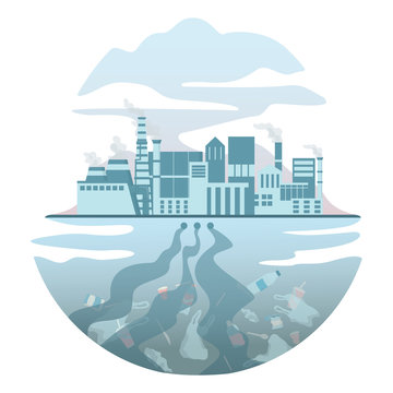 Global ecology problem vector illustration