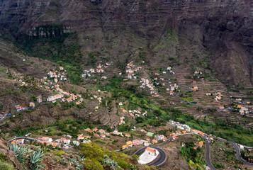 Valle Gran Rey on the island of La Gomera