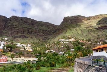 In the Valle Gran Rey on La Gomera