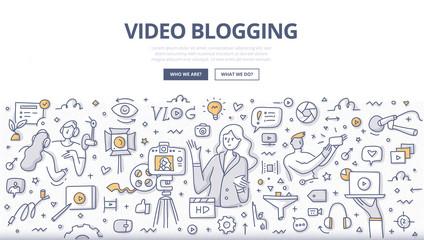 Video Blogging Doodle Concept