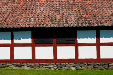 Wall Mural - Half timbering barn