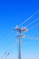 Frosty Electrical power pole