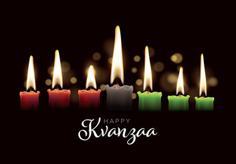 Kwanzaa Card Layout with Candles