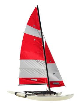 Sailing Catamaran isolated