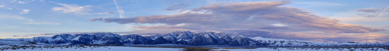 winter mountain landscape panoramic