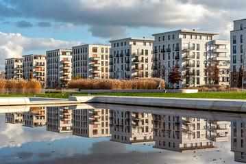 Moderne Architektur im Europaviertel in Frankfurt am Main