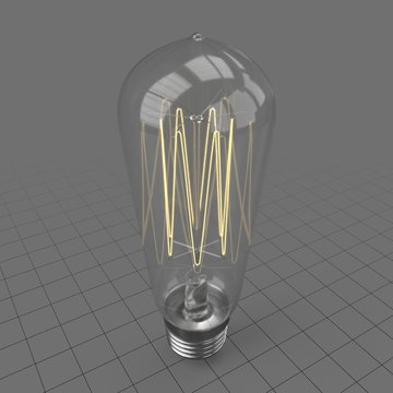 Retro incandescent light bulb