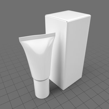 Plastic tube container with box 3