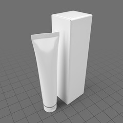 Plastic tube container with box 4