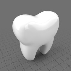 Stylized tooth