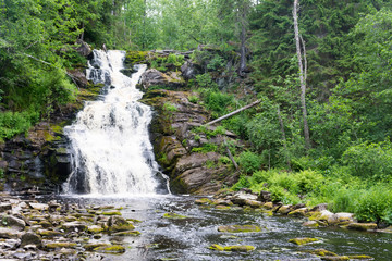 "The highest waterfall in Karelia - waterfall ""white bridges"""