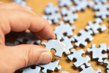 Choose a piece of a jigsaw puzzle