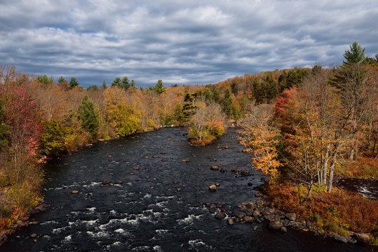 Rapids on the Oswegatchie River at Fine New York Adirondack Park