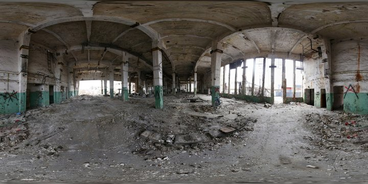 Abandoned Building 360 Panorama