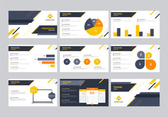 Yellow and Grey Presentation Layout