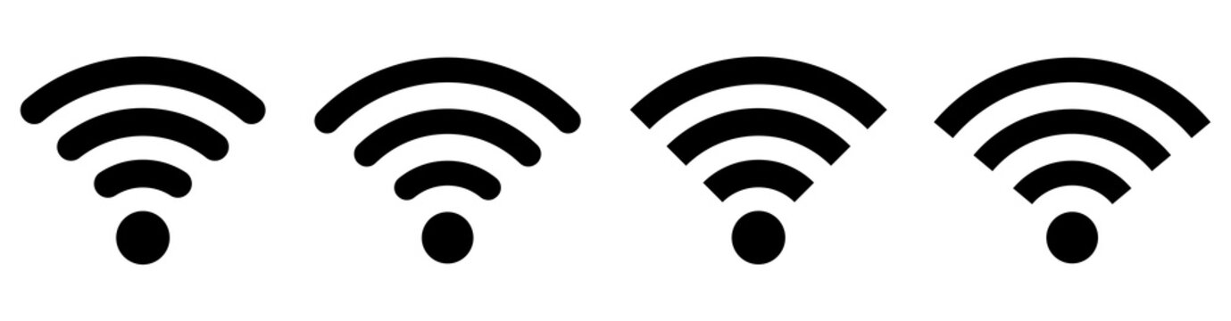 Wifi icons set. Internet icons.Vector
