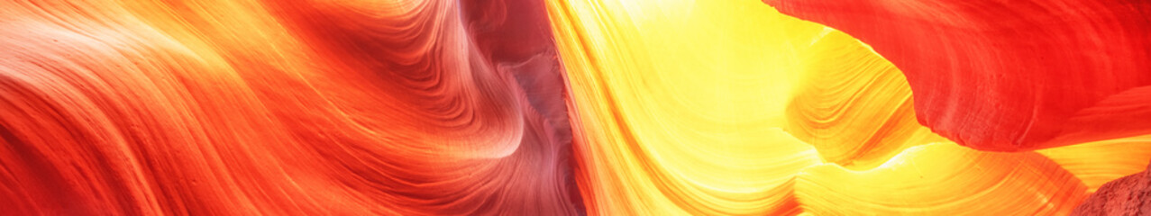 Foto op Plexiglas Rood Abstract background. Canyon Antelope, Colorful and famous slot Canyon. Travel concept.