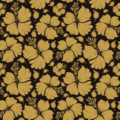 seamless pattern hibiscus flower hawaii for background and textile