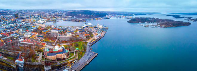 View of Akershus Fortress in Oslo, Norway