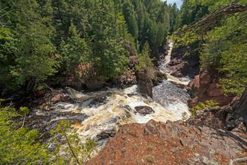 Water Rushing Down a Narrow Gorge