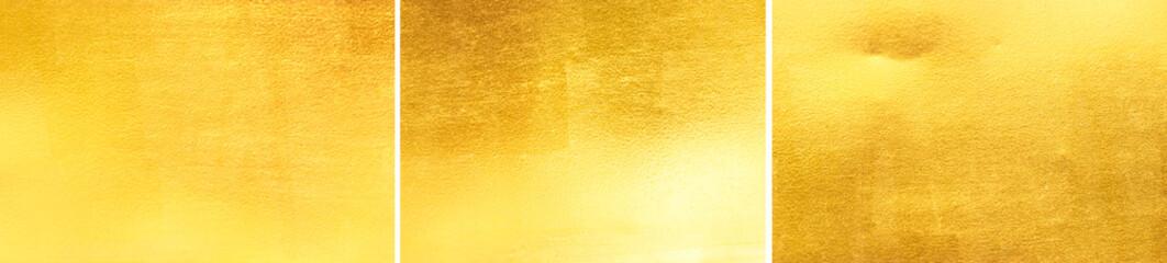 Gold glitter paste wall texture