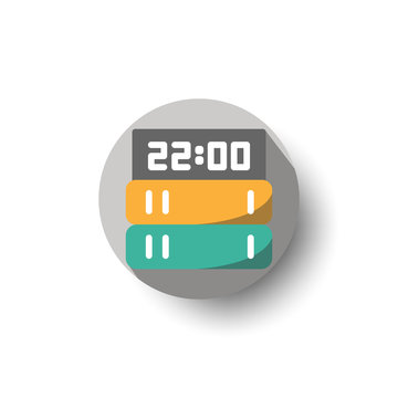 workload flat long shadow icon style