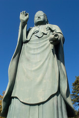Eastern Religious Statue in Japanese Public Park