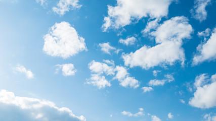 Türaufkleber Blau 青空・雲