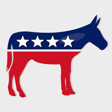 democrat party symbol isolated vector illustration