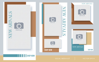 Modern promotion for social media mobile apps. Vector illustration