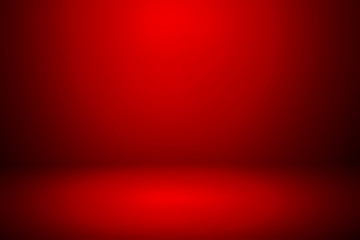Abstract red template background. Picture can used web ad or stand product. studio with blank space dark gradient wall.