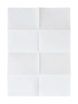 folded paper isolated on white background