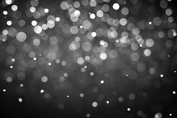 Snowflakes isolated on black