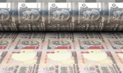 Printing Indian Rupee Notes